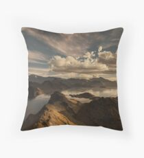 When Morning Sun Breaks through Storm Clouds Floor Pillow