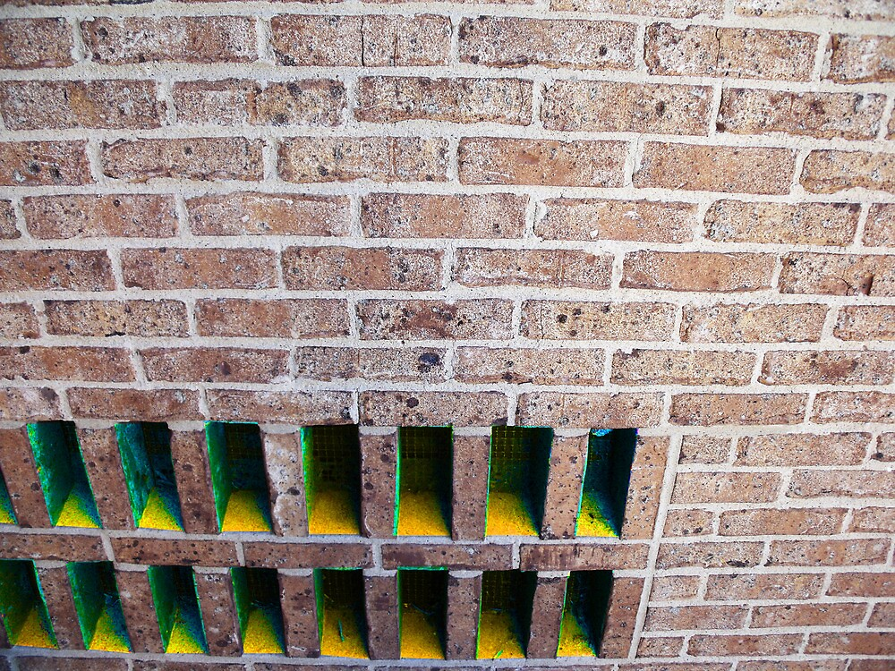Brick Holes in a Wall (Edited) by TJ Trubert