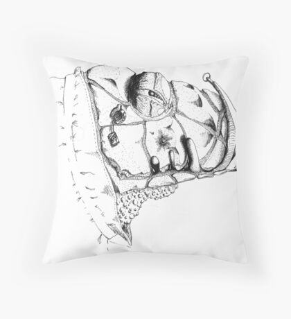 Grim Watcher Throw Pillow