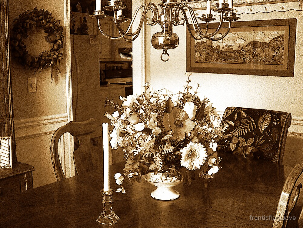 """The Dining Table Vintage Style"" by franticflagwave"