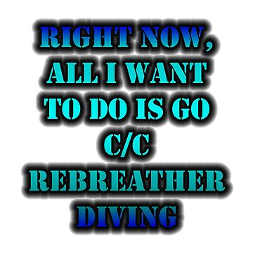 Right Now, All I Want To Do Is Go C/C Rebreather Diving by cmmei