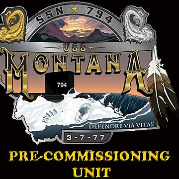 PCU Montana (SSN-794) Crest for Dark Colors by Spacestuffplus