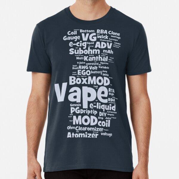 Vape WordCloud Long Premium T-Shirt