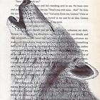Wolf Print,  Book Page Print, Drawing, Animal Art, Wolf Illustration, Illustration, Print, Wall Art, Nature, Wolf by R Bex