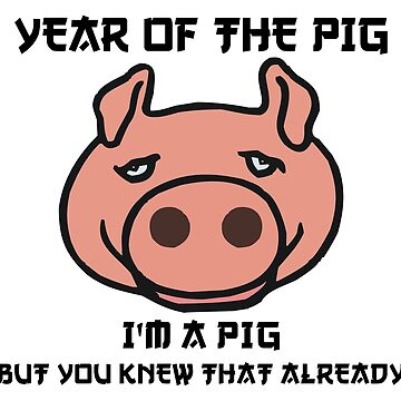 Funny Year of The Pig by HolidayT-Shirts