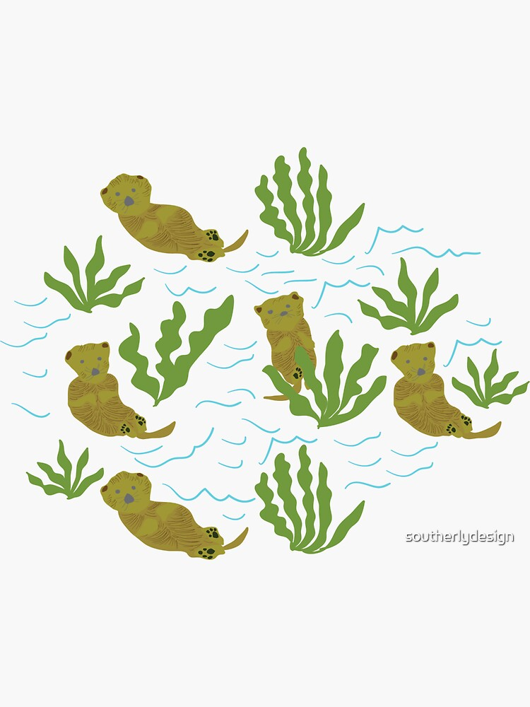 Sea Otters by southerlydesign