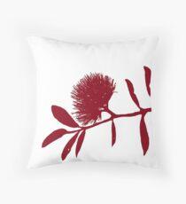 Pohutukawa- Red Throw Pillow