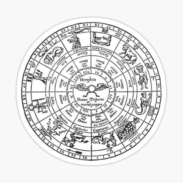 Vintage Zodiac Wheel Sticker