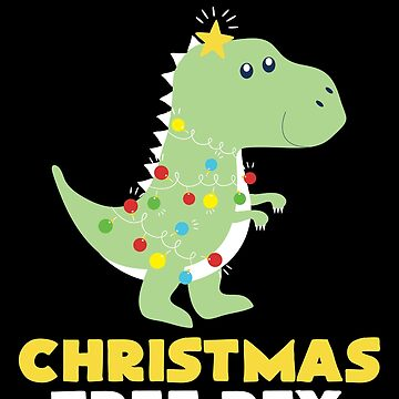 Christmas Tree T Rex Dinosaur Funny Gift by BUBLTEES
