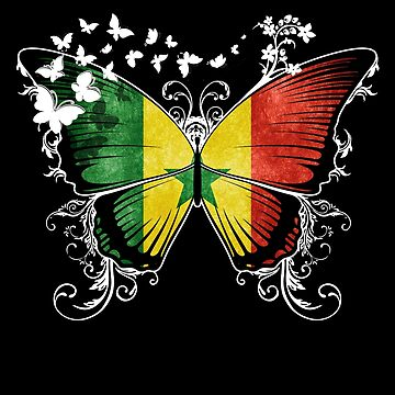 Senegal Flag Butterfly Senegalese National Flag DNA Heritage Roots Gift  by nikolayjs