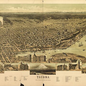 Aerial View of Tacoma, Washington (1890) by allhistory