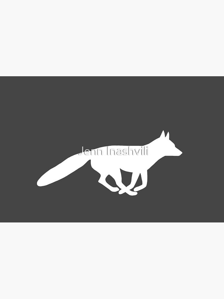 Silueta de zorro blanco de ShortCoffee