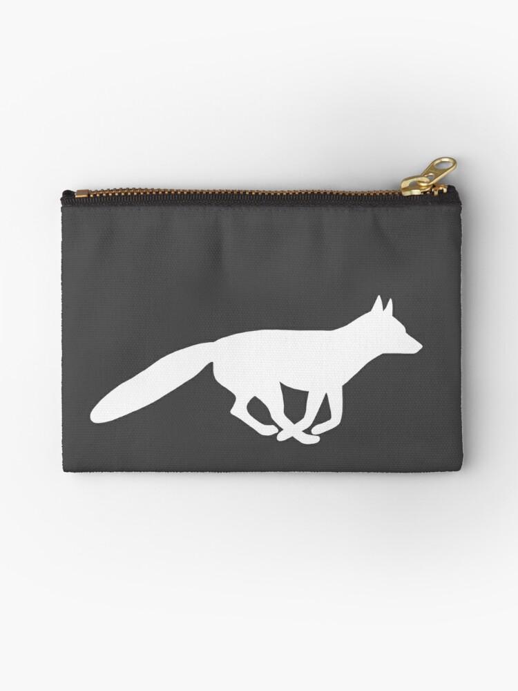 Weißer Fuchs Silhouette von Jenn Inashvili