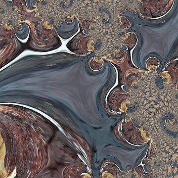 Coffee Swirl - Abstract Fractal  by vmajzlik
