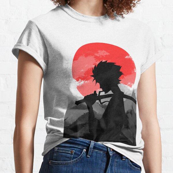 Samouraï avec coucher de soleil T-shirt classique
