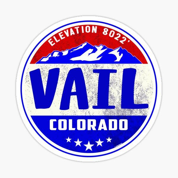 Vail Colorado Mountain Skiing Ski Snowboarding Sticker