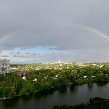 Rainbow over Ottawa  by Shulie1