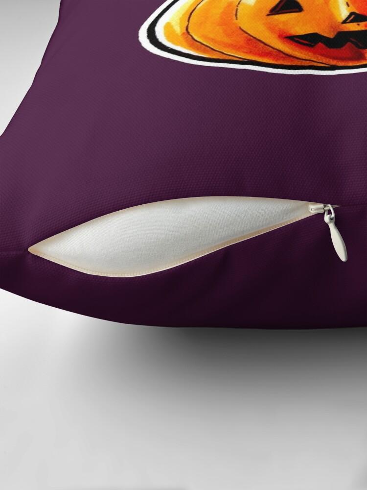Alternate view of Jack-o'-lantern Throw Pillow
