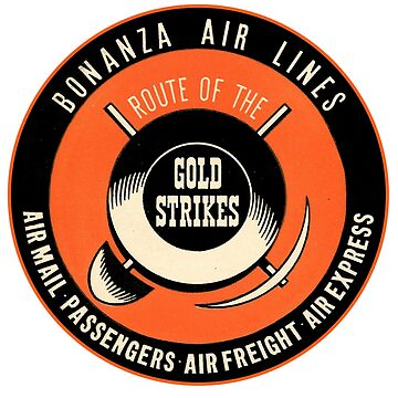 Bonanza Airlines - Route of the Gold Strikes by Bloxworth
