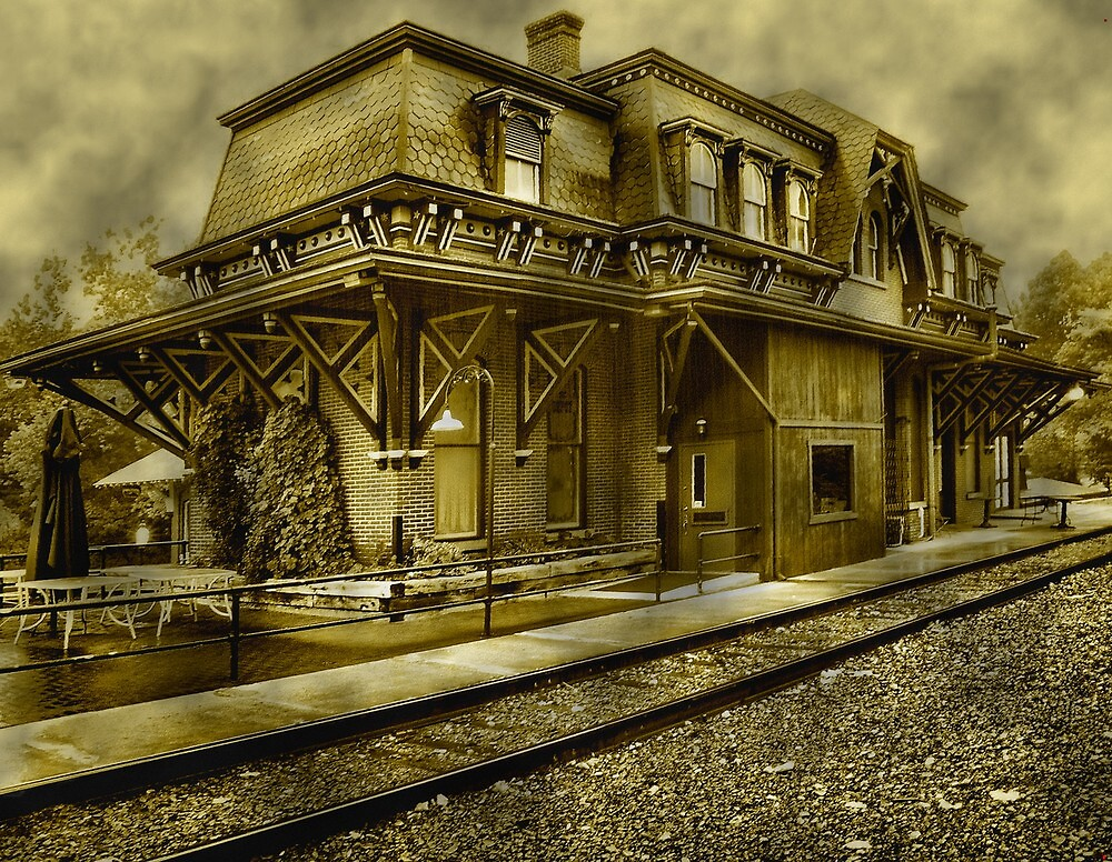 Restored railroad station..... by DaveHrusecky