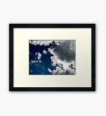 Sun Through the Clouds 2 Framed Print
