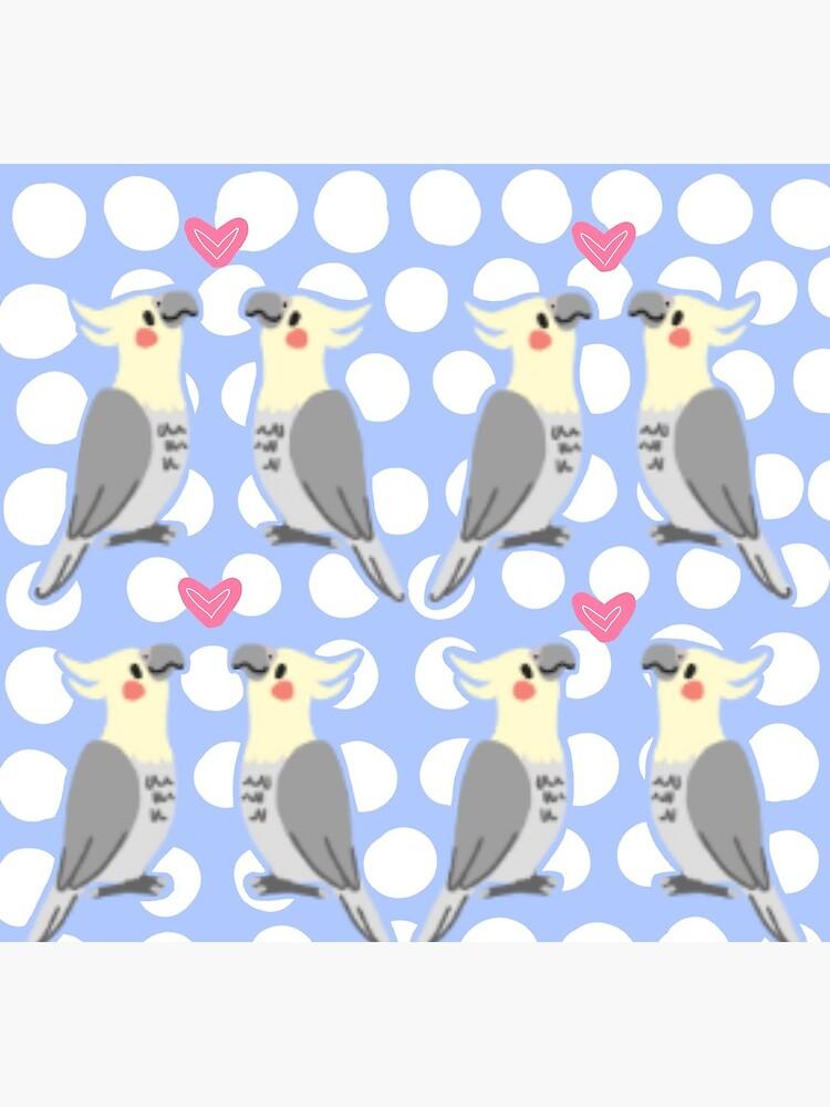 Cute Cockatiels by klovesbunnies