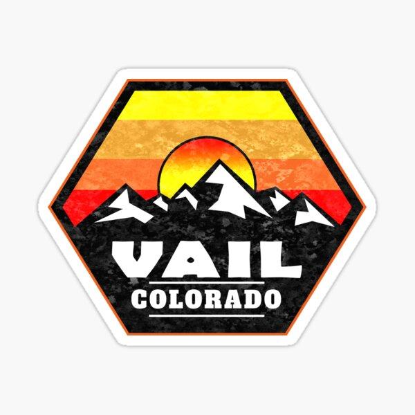 Skiing Vail Colorado Ski Mountains Sunset Sticker