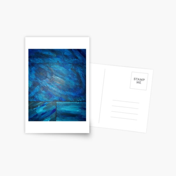 Blue Squares Postcard