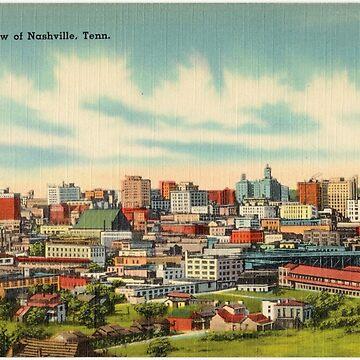 Vintage Sky Line of Nashville, Tennessee by PZAndrews