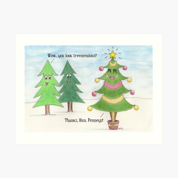 Treemendous Christmas Art Print