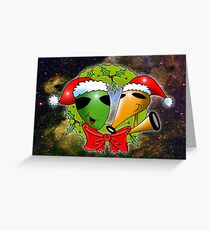 out of this world christmas Greeting Card