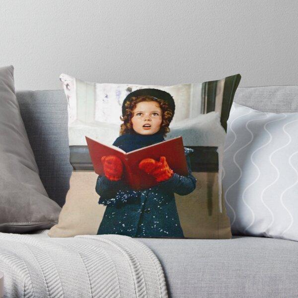 Shirley Temple Christmas Caroling  Throw Pillow