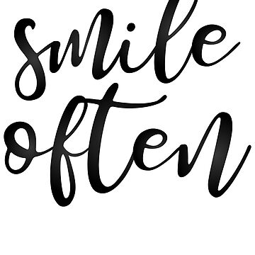 Smile Often - Typography by kamrankhan