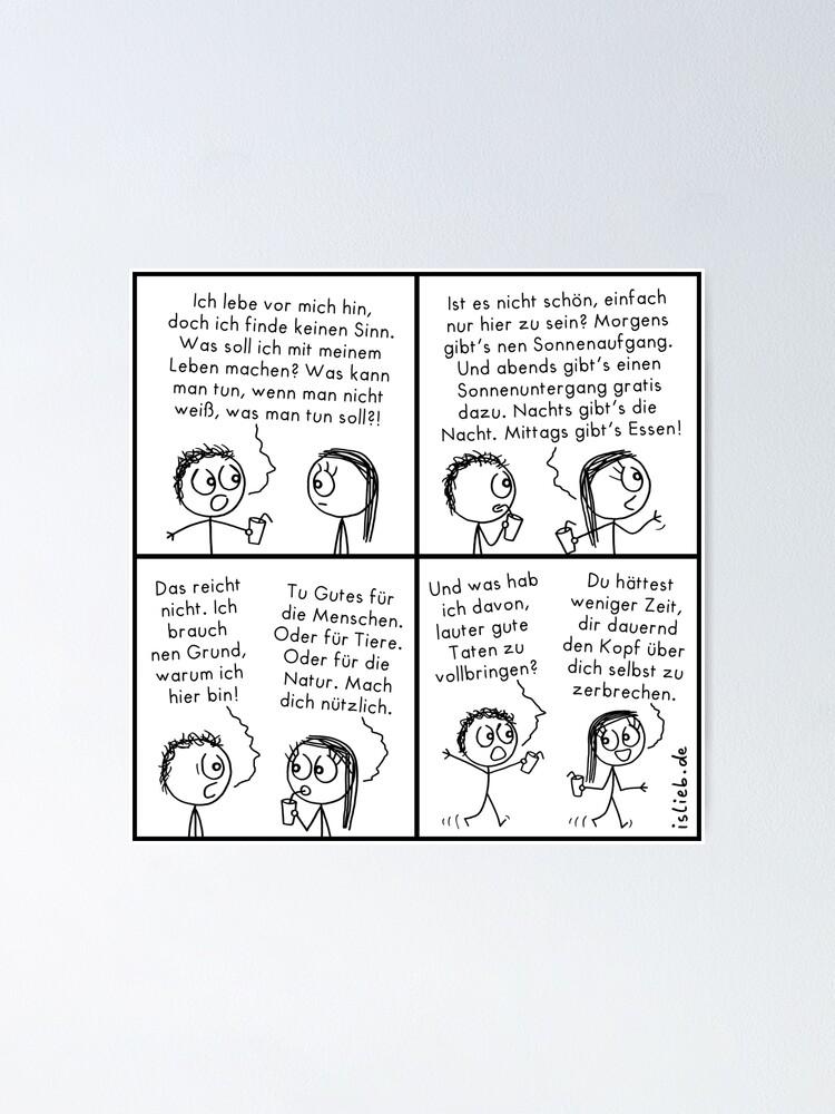 Alternative Ansicht von Sinn islieb Comic Poster
