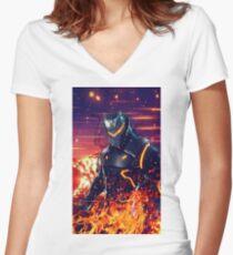 epic omega level Women's Fitted V-Neck T-Shirt