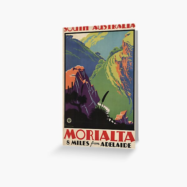 South Australia, Morialta, 8 miles from Adelaide, 1935 Greeting Card