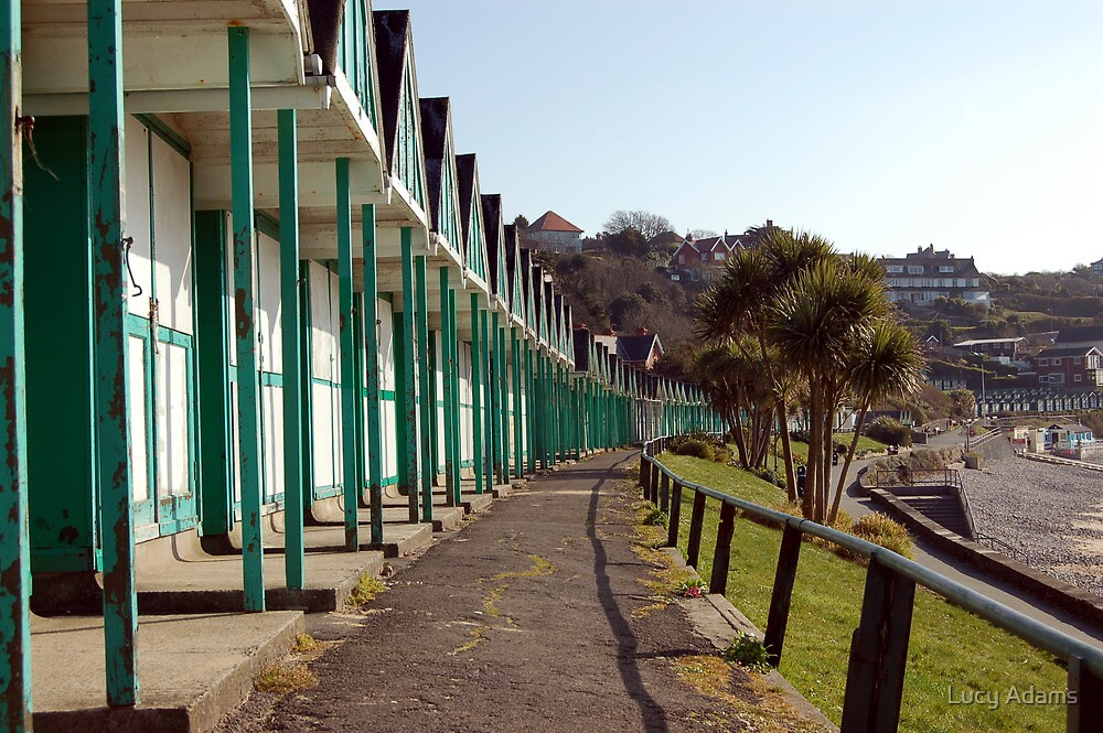 Beach Huts by Lucy Adams
