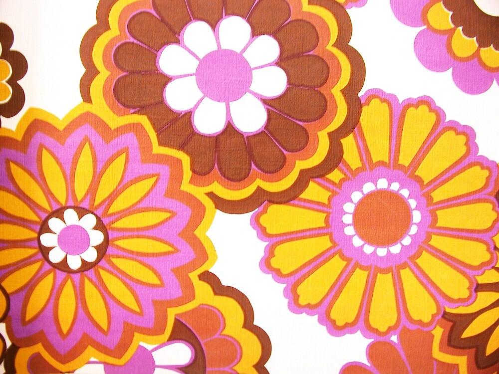retro flowers by violetstar