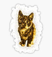 Cute pet golden Gold Sticker