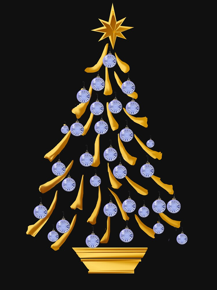 Decorated Gold Christmas Tree by Lotacats