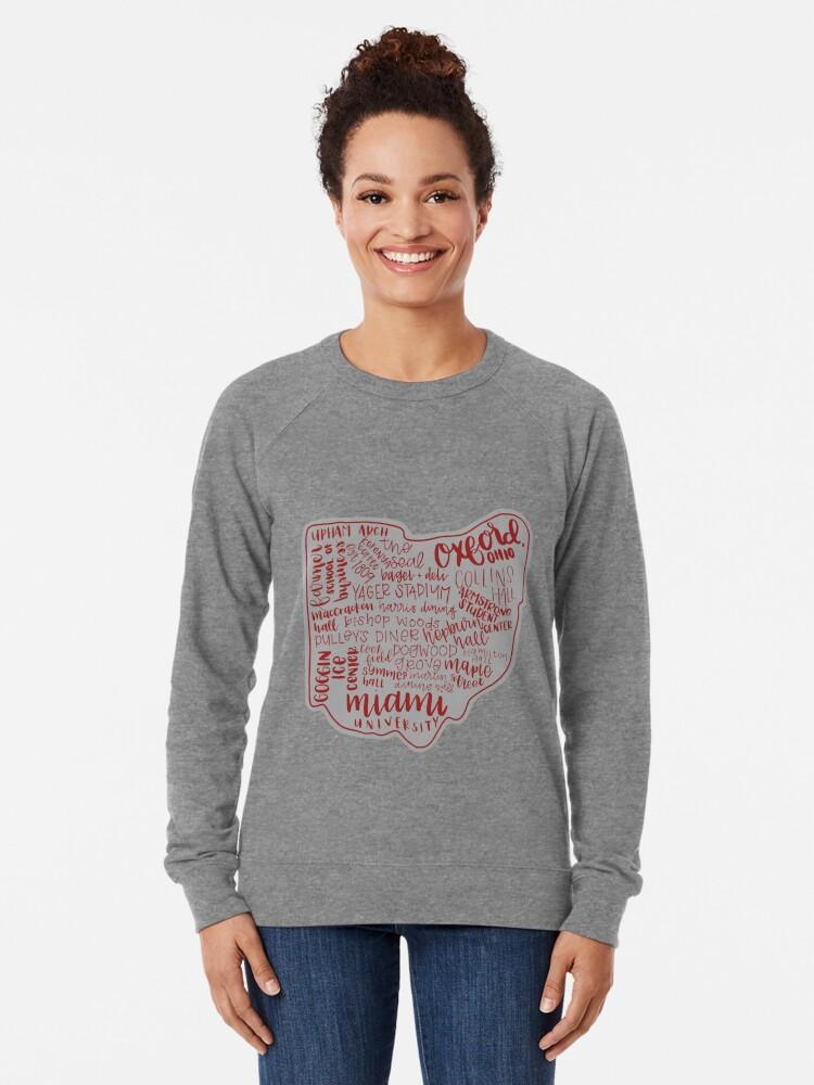 Alternative Ansicht von Miami University Ohio Kunstdruck Leichter Pullover