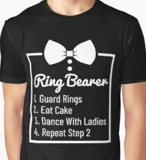 Funny Ring Bearer Bowtie Gift Wedding Graphic T-Shirt
