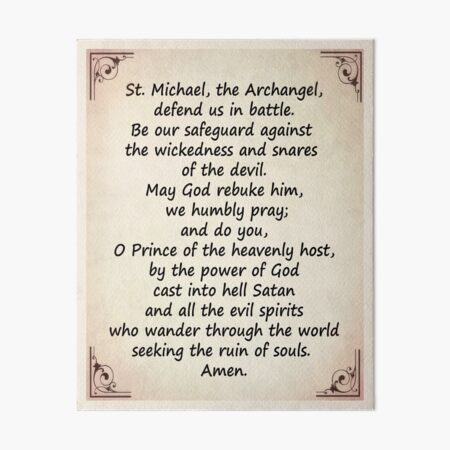 The Saint Michael's Prayer Art Board Print