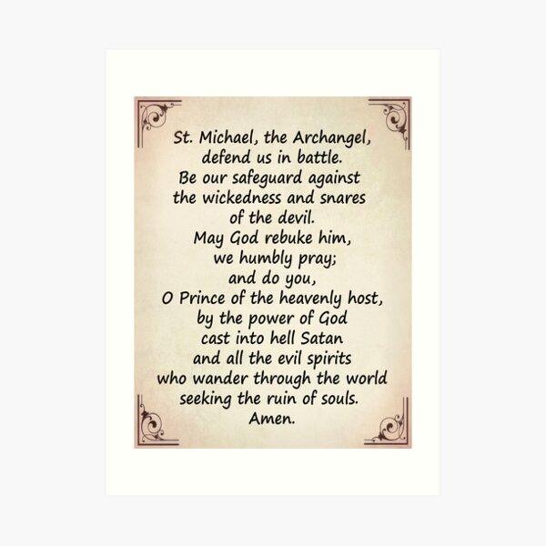 The Saint Michael's Prayer Art Print
