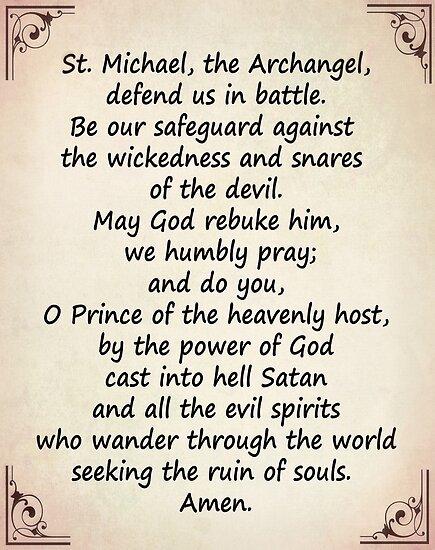 The Saint Michael's Prayer by Albert