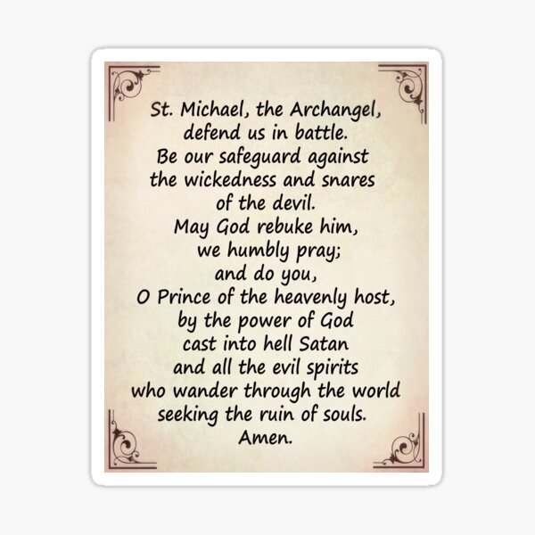 The Saint Michael's Prayer Sticker