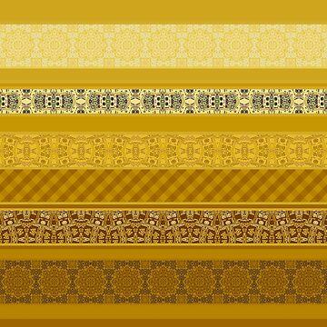 Yellow striped patchwork by fuzzyfox