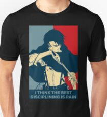 Camiseta unisex Levi - Creo que la mejor disciplina es el dolor
