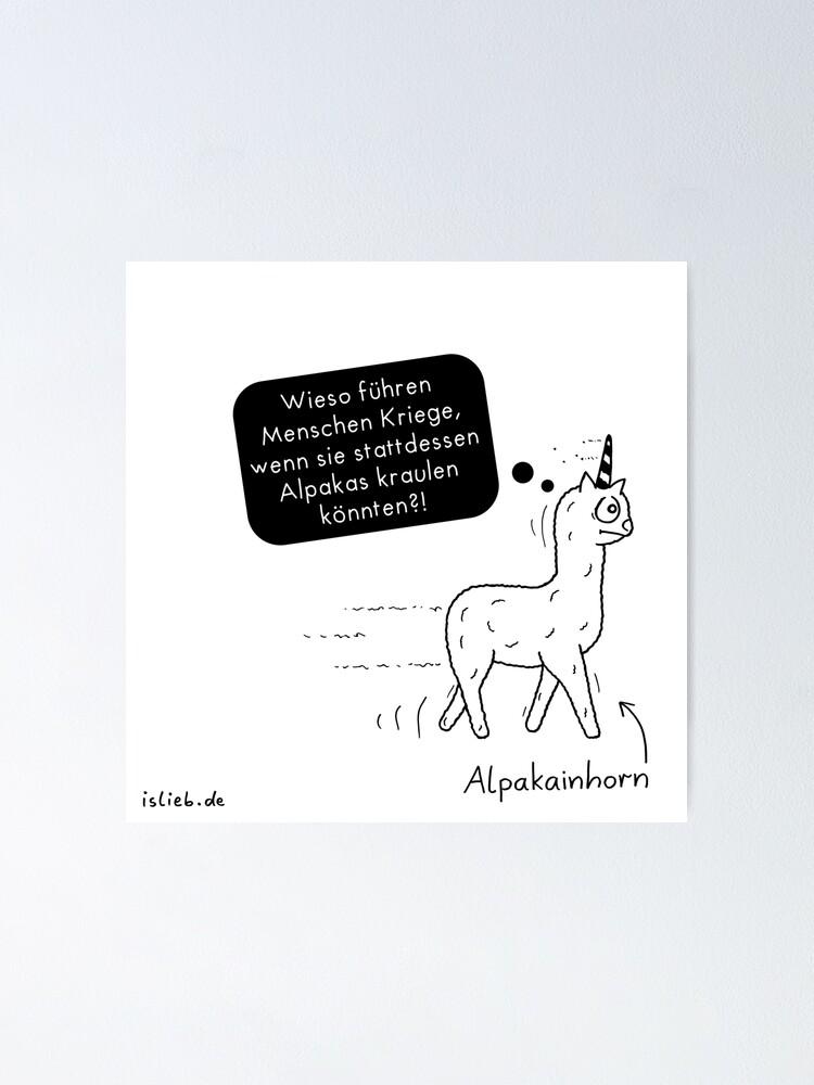 Alternative Ansicht von Alpakainhorn Poster