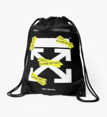 Off White Line Cross Drawstring Bag